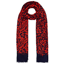Buy John Lewis Ivy Print Scarf, Red Online at johnlewis.com