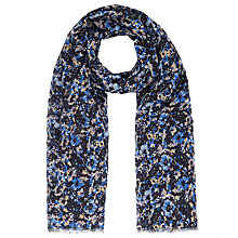 Buy John Lewis Midnight Floral Scarf, Navy Online at johnlewis.com
