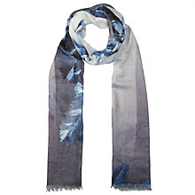 Buy John Lewis Ombre Tulip Print Scarf, Blue Online at johnlewis.com