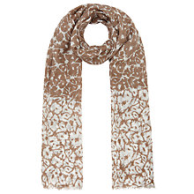 Buy John Lewis Reverse Floral Scarf, Taupe Online at johnlewis.com