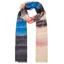 Buy John Lewis Capsule Landscape Scarf, Blue Online at johnlewis.com