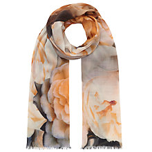 Buy John Lewis Winter Peony Scarf, Natural Online at johnlewis.com
