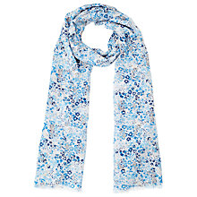 Buy John Lewis Daylight Floral Scarf, Blue Online at johnlewis.com