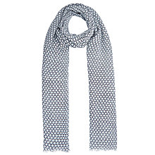 Buy John Lewis Vintage Tile Scarf, Navy Online at johnlewis.com