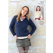 Buy Sirdar Ophelia Women's Jumper Fashion Ply Knitting Pattern, 7313 Online at johnlewis.com