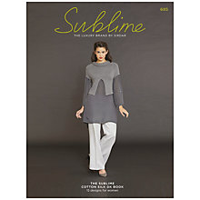 Buy Sirdar Sublime Cotton Silk DK Knitting Pattern Book, 685 Online at johnlewis.com