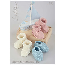 Buy Sirdar Sublime Babies' Booties 4 Ply Knitting Pattern, 6101 Online at johnlewis.com