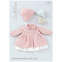 Buy Sirdar Sublime Baby Coat & Bonnet Knitting Pattern Book, 6099 Online at johnlewis.com