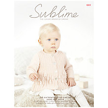 Buy Sirdar Sublime Babies' Clothes DK Knitting Pattern, 683 Online at johnlewis.com