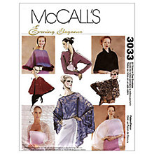 Buy McCall's Women's Evening Cover-Ups Sewing Pattern, 3033, One Size Online at johnlewis.com