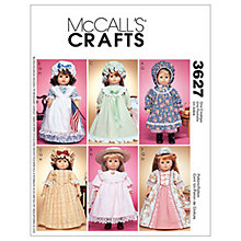 "Buy McCall's 18"" Doll Clothes Sewing Pattern, 3627, One Size Online at johnlewis.com"