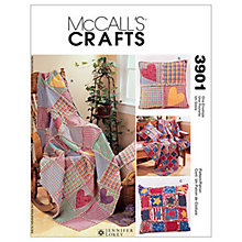 Buy McCall's Throw and Cushions Sewing Pattern, 3901, One Size Online at johnlewis.com