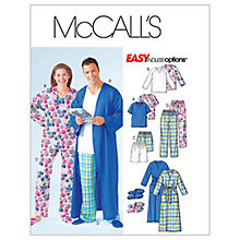 Buy McCall's Unisex Loungewear Sewing Pattern, 4320 Online at johnlewis.com