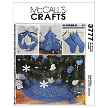 Buy McCall's Christmas Decoration Sewing Pattern, 3777, One Size Online at johnlewis.com
