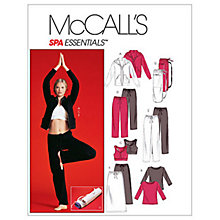 Buy McCall's Women's Petite Hooded Jacket, Top, Bra, Trousers in 2 Lengths, Skirt and Bag Sewing Pattern, 4261 Online at johnlewis.com