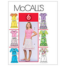 Buy McCall's Girl's Tops Shrugs & Skirts Combo Sewing Pattern, 4675, Y Online at johnlewis.com