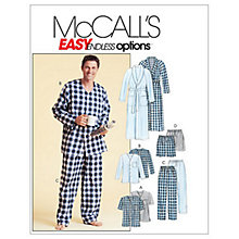 Buy McCall's Men's Dressing Gown, Belt, Tops, Trousers and Shorts Sewing Pattern, 4244 Online at johnlewis.com