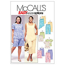 Buy McCall's Women's Top, Tunic, Shorts and Capri Trousers Sewing Pattern, 4097 Online at johnlewis.com