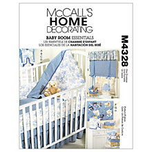 Buy McCall's Baby Room Essentials Sewing Pattern, 4328, One Size Online at johnlewis.com