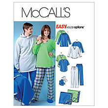 Buy McCall's Unisex Tops Trousers Blanket & Socks Sewing Pattern, 4675 Online at johnlewis.com