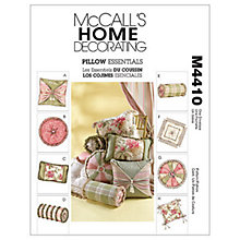 Buy McCall's Cushions Sewing Pattern, 4410, One Size Online at johnlewis.com
