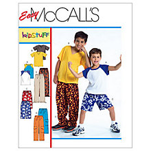 Buy McCall's Boys' T-Shirt, Shorts in 2 Lengths and Trousers Sewing Pattern, 4364 Online at johnlewis.com