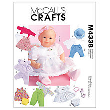 Buy McCall's Baby Doll Clothes Sewing Pattern, 4338, One Size Online at johnlewis.com