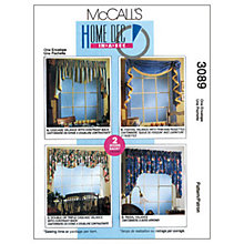 Buy McCall's Curtains Sewing Pattern, 3089, One Size Online at johnlewis.com