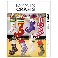Buy McCall's Christmas Stocking Sewing Pattern, 2991, One Size Online at johnlewis.com