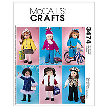 "Buy McCall's 18"" Doll Clothes Sewing Pattern, 3474, One Size Online at johnlewis.com"
