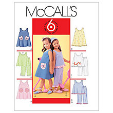 Buy McCall's Girls' Dress, Top and Trousers Sewing Pattern, 4006 Online at johnlewis.com