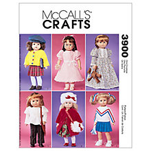 "Buy McCall's 18"" Doll Clothes Sewing Pattern, 3900, One Size Online at johnlewis.com"