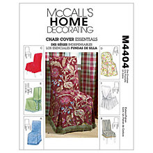Buy McCall's Chair Covers Sewing Pattern, 4404, One Size Online at johnlewis.com