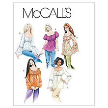 Buy McCall's Women's Flared Top and Tunic Sewing Pattern, 5050 Online at johnlewis.com