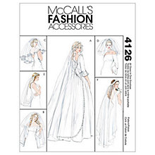 Buy McCall's Bridal Veil Sewing Pattern, 4126, One Size Online at johnlewis.com