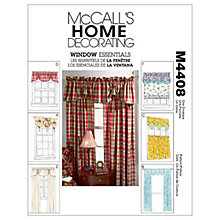 Buy McCall's Curtains Sewing Pattern, 4408, One Size Online at johnlewis.com