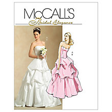 Buy McCall's Women's Bridal Bustier Top and Full-Length Skirt Sewing Pattern, 5321 Online at johnlewis.com