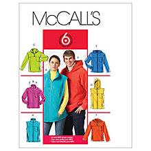 Buy McCall's Unisex Tops & Vests Sewing Pattern, 5252 Online at johnlewis.com