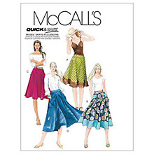 Buy McCall's Women's Flared Skirt Sewing Pattern, 5431 Online at johnlewis.com