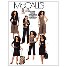 Buy McCall's Women's Jacket, Top, Dress and Trousers Sewing Pattern, 5890 Online at johnlewis.com