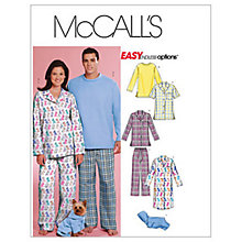 Buy McCall's Unisex Complete Sleepwear Sewing Pattern, 5992 Online at johnlewis.com