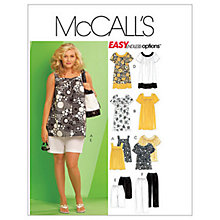 Buy McCall's Women's Tops Dresses Shorts & Trousers Sewing Pattern Online at johnlewis.com