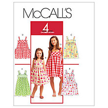 Buy McCall's Children's Pullover Dresses Sewing Pattern, 5613 Online at johnlewis.com