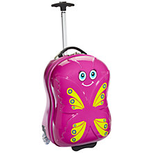 Buy Travel Buddies Bella Butterfly 2-Wheel Children's Suitcase, Pink Online at johnlewis.com