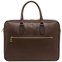 Buy Mulberry Heathcliffe Leather Briefcase, Brown Online at johnlewis.com