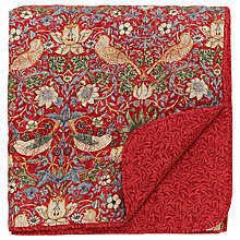 Buy Morris & Co Strawberry Thief Bedspread, Red Online at johnlewis.com