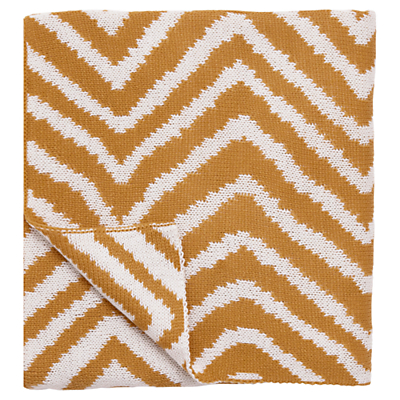 Scion Snowdrop Throw, Burnt Orange/White