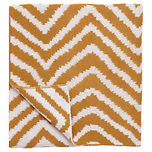 Buy Scion Snowdrop Throw, Burnt Orange/White Online at johnlewis.com