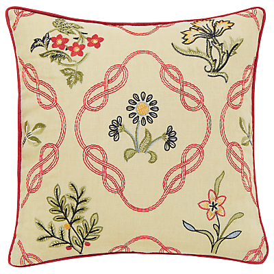 Morris & Co Strawberry Thief Cushion, Red