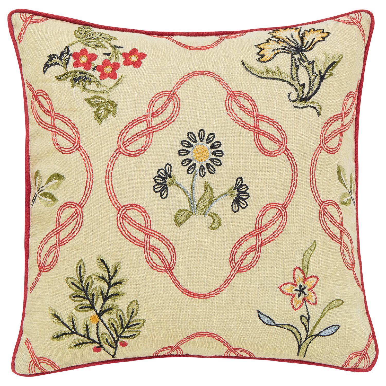 Morris & Co Morris & Co Strawberry Thief Cushion, Red